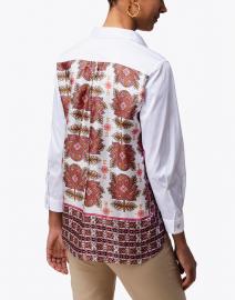 Le Sarte Pettegole - Pink Collared Shirt with Foulard Back