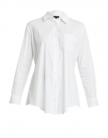 White Cotton Button Down Shirt