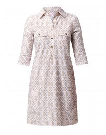 Sloane Beige Geometric Henley Dress
