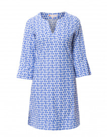 Megan Periwinkle Link Printed Stretch Dress
