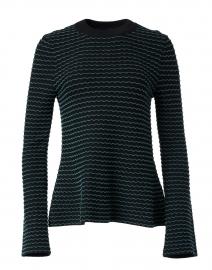 Black Multi Striped Knit Top