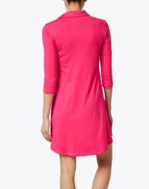 Southcott - Katherine Fuschia Cotton Bamboo Henley Dress