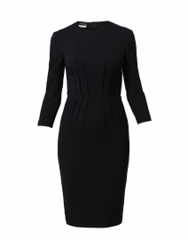 Black Jersey Elbow Sleeve Dress