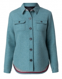 Spruce Green Wool Shirt Jacket