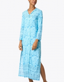 Walker & Wade - Turquoise Floral Print Duster Dress