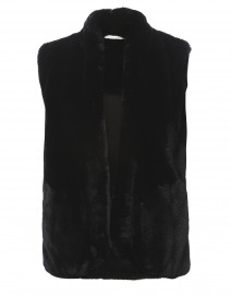 Parnassus Black Faux Fur Vest