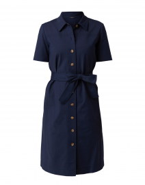 Kylie Navy Cotton Shirt Dress