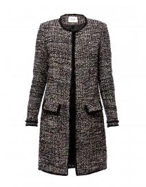 Black and Pale Pink Tweed Jacket