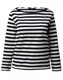 Ritmo Black and White Striped Cotton Shirt