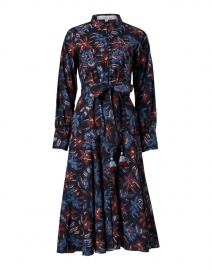 Katya Navy, Red & Blue Floral Cotton Shirt Dress
