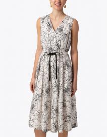 Max Mara Studio - Midas White and Black Floral Cotton Dress