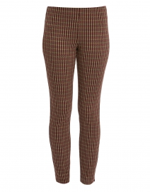 Springfield Spice and Camel Check Power Stretch Pull On Pant