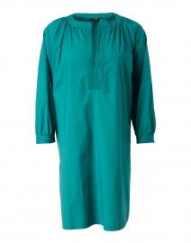 Green Stretch Cotton Poplin Dress