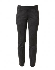 Blue and Brown Check Stretch Pull On Pant
