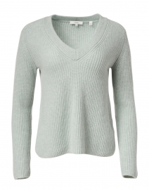 Vince - Sage Green Shaker Rib Cashmere Sweater