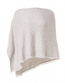 Grey Cashmere Fringe Wrap
