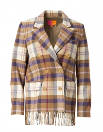 Tiffany Brown, Purple, and White Plaid Jacket