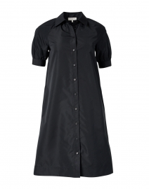 Brennan Black Taffeta Shirt Dress