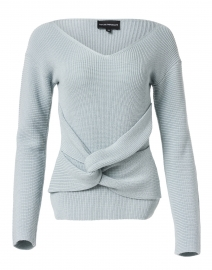 Ice Grey Ribbed Sweater