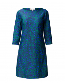 Marlowe Emerald and Navy Leopard Dress