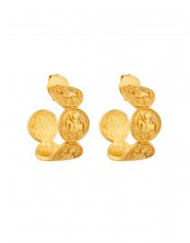 Medium Gold Coin Hoop Earring