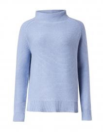 Seaside Blue Garter Stitch Cotton Sweater
