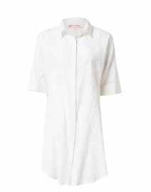Federica White Embroidered Cotton Tunic
