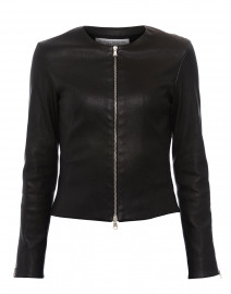Black Stretch Leather Jacket