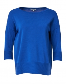 Royal Blue Easy Rib Cotton Sweater