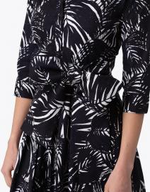 Samantha Sung - Audrey Indigo Palm Print Stretch Cotton Dress