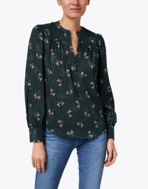 Veronica Beard - Abbie Green Floral Print Top