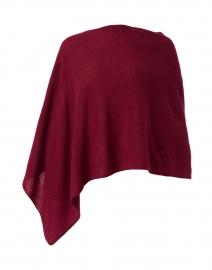 Garnet Red Cashmere Ruana