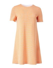 Clementine and White Gingham Seersucker Dress