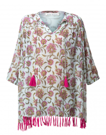 Serafina Mint Vine Floral Cotton Tunic