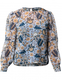 Maribelle Blue Floral Blouse