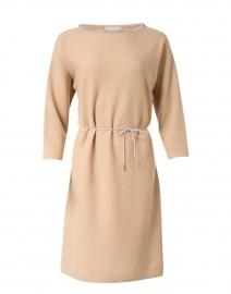 Beige Wool and Silk Knit Dress