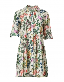 Deauville Multicolored Floral Printed Shirt Dress