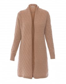 Sophie Camel Cable Knit Cashmere Cardigan