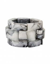 Gigi Grey Resin Elastic Bracelet