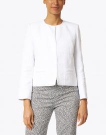 Lafayette 148 New York - Kade White Mixed Stitch Cotton Short Jacket