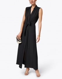Brochu Walker - Madsen Black Crinkle Gauze Dress