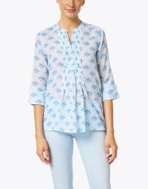 Oliphant - Blue Capella Print Cotton Voile Top