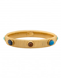 Strada Blue and Turquoise Small Gold Bracelet