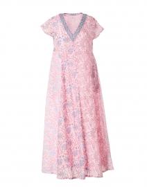 Cora Pink Floral Block Printed Dress