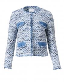 Blue and White Tweed Jacket