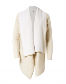 St. Claire Natural Cashmere Hooded Cardigan