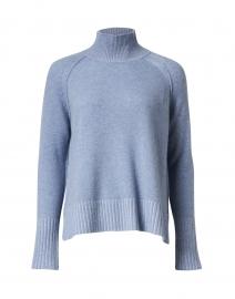 Blue Plaited Cashmere Sweater