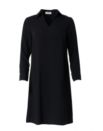 Galop Black Crepe Dress