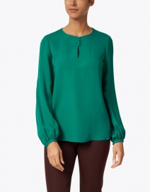 Lafayette 148 New York - Kaden Green Silk Blouse