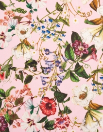 St. Piece - Naomi Light Pink and Raspberry Floral Wool Cashmere Scarf